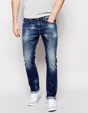Diesel Jeans Thavar 848C Slim Fit Stretch Light Wash Distressed