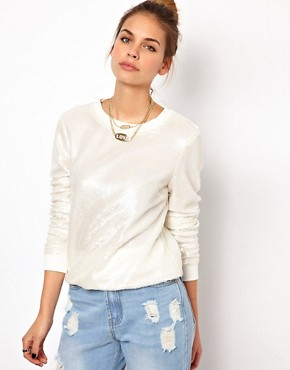Image 1 ofGlamorous Sequin Sweatshirt