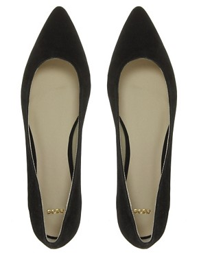 Image 3 ofASOS LASSOO Sharp Point Ballet Flats