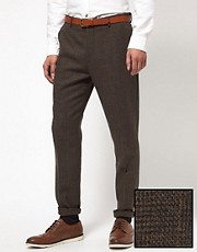 ASOS Slim Fit Smart Trousers In Check