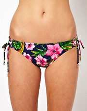 Juicy Couture Wild Flower Tie Side Bikini Bottom