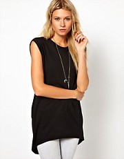 ASOS Top with Drop Armhole and Cowl Back
