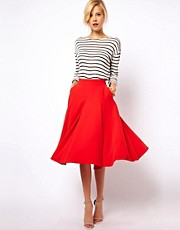 ASOS Full Midi Circle Skirt with Pockets
