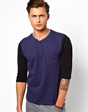 ASOS 3/4 Sleeve Baseball T-Shirt With Contrast Sleeve