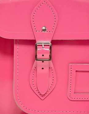 Image 4 ofCambridge Satchel Company Exclusive to Asos 14&quot; Leather Satchel