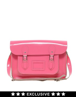 Image 1 ofCambridge Satchel Company Exclusive to Asos 14&quot; Leather Satchel