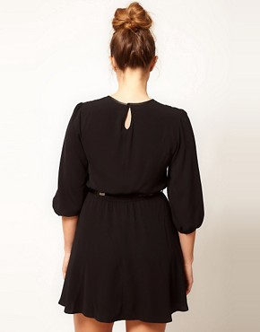 Image 2 ofASOS CURVE Skater Dress With Lace Peter Pan Collar