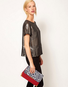 Image 3 ofASOS Print Clash Clutch