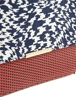 Image 4 ofASOS Print Clash Clutch