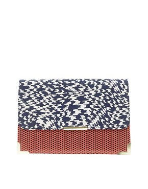 Image 1 ofASOS Print Clash Clutch