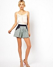 ASOS Shorts in Print With Studded Pocket Detail