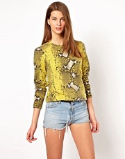 Equipment Sloane Cashmere Sweater in Python Print