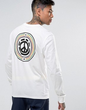 Element Peace Long Sleeve T-Shirt With Back Print