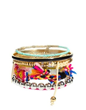 Image 2 ofRiver Island Mixed Tribal Bracelets