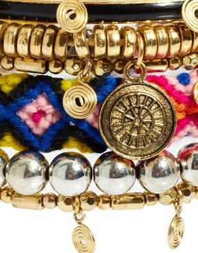 Image 4 ofRiver Island Mixed Tribal Bracelets