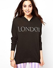 Top de manga larga con capucha London de Wildfox