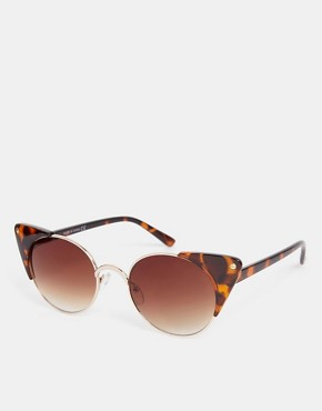 ASOS Metal Corner Detail Cat Eye Sunglasses