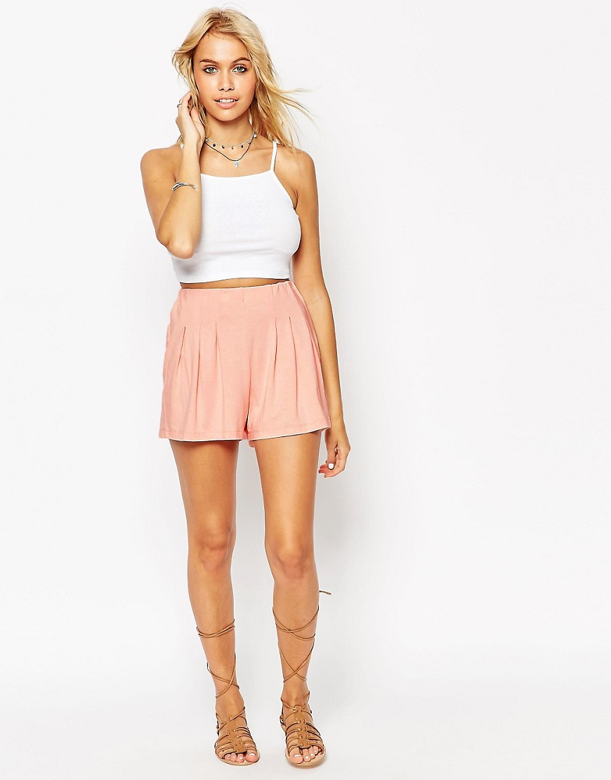 Image 1 of ASOS Pleated Culotte Shorts