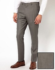 ASOS Slim Fit Suit Trousers in Birdseye