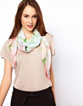 Image 1 ofTed Baker Bouquet Print Silk Scarf