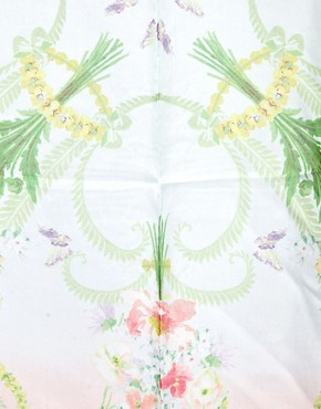 Image 2 ofTed Baker Bouquet Print Silk Scarf