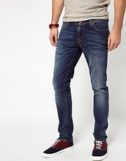 Nudie  Long John  Rhrenjeans in abgetragener Optik