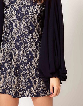 Image 3 ofRiver Island Bell Sleeve Lace Dress