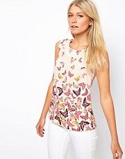 Oasis Butterfly Border Shell Top