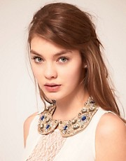 ASOS Embellished Stone Floral Collar