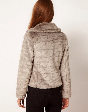 Image 2 ofA Wear Button Front Faux Fur Jacket