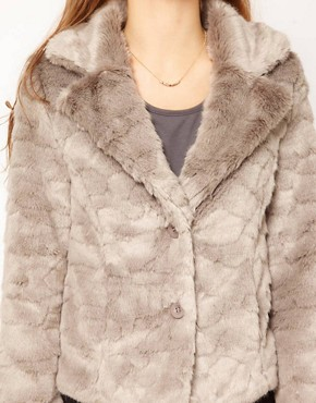 Image 3 ofA Wear Button Front Faux Fur Jacket