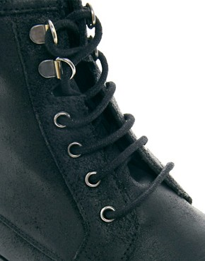 Image 4 ofASOS Workboots in Leather