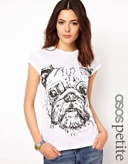 ASOS PETITE Exclusive Pug T-Shirt