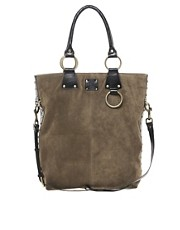 Sara Berman Studded Suede Charlotte Tote