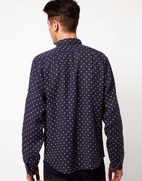 Image 2 ofVillage Green Linen Polka Dot Shirt