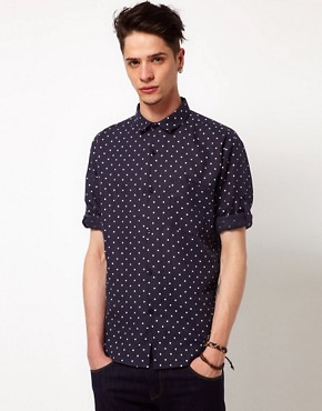 Image 1 ofVillage Green Linen Polka Dot Shirt