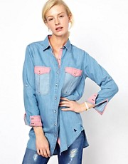 Mih Contrast Chambray Shirt