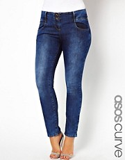 Esclusiva ASOS CURVE - Jeans skinny super sexy a lavaggio medio