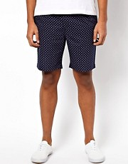 Bellfield Chino Short With Diamond Print
