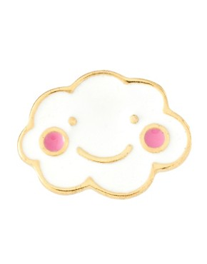 Image 3 ofASOS Happy Cloud Mismatch Single Stud Earrings