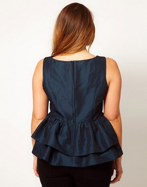 Image 2 ofASOS CURVE Top With Tutu Peplum