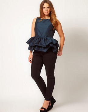 Image 4 ofASOS CURVE Top With Tutu Peplum
