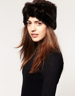 Image 1 ofASOS Faux Fur Turban Headband