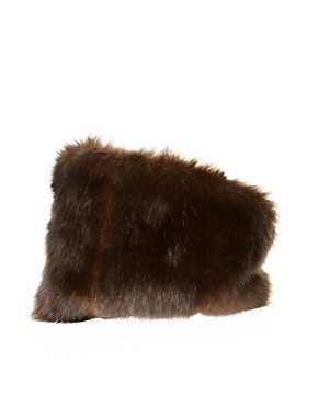 Image 2 ofASOS Faux Fur Turban Headband