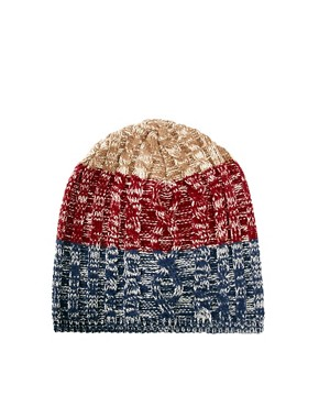 Image 2 ofASOS 3 Colour Beanie
