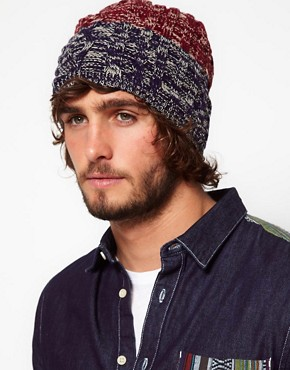 Image 3 ofASOS 3 Colour Beanie