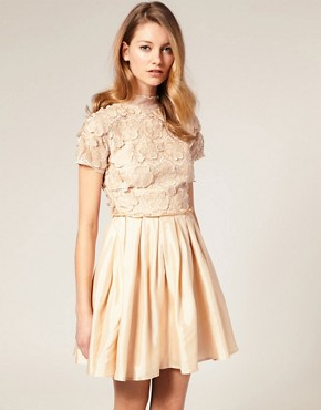 Image 1 ofASOS SALON 3D Flower Bodice Dress
