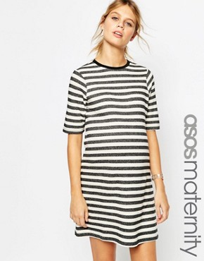 ASOS Maternity LOUNGE Stripe Sweat Dress