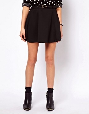 Image 4 ofASOS Ponte Mini Skirt With Belt
