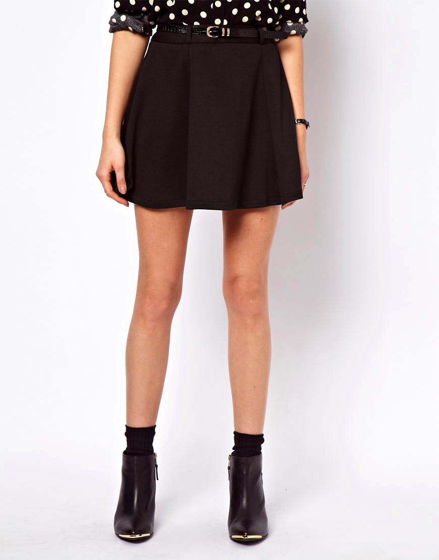 Image 4 of ASOS Ponte Mini Skirt With Belt